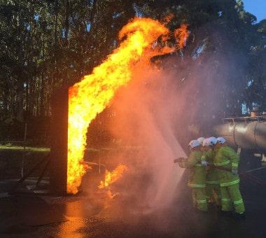 FSA On Site Emergency Team Extinguishing Fire