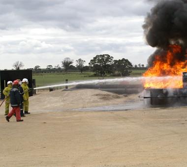 FSA Trainees extinguishing Fire in a Team