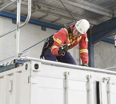 FSA Heights Instructor on a Container