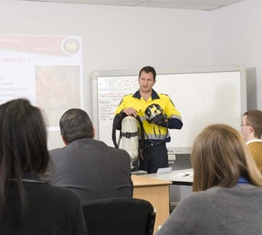 FSA Instructor in front of Class