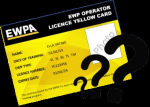 ewp yellow card